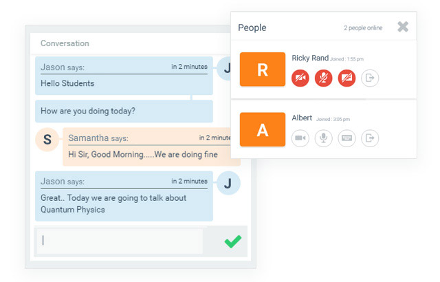 Virtual Classroom Software to deliver live teaching and